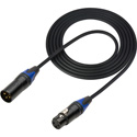 Sescom DMX-3M3F-10 Lighting Control Cable 3-Pin XLR Male to 3-Pin XLR Female Black - 10 Foot