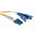 Cleerline DOS2LCSC01M-UPC LC/UPC-SC/UPC-1.6mm Riser-OS2-1m Fiber Cable