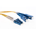 Cleerline DOS2LCSC02M-UPC LC/UPC-SC/UPC-1.6mm Riser-OS2-2m Fiber Cable