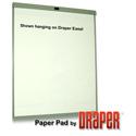 Draper 351002 AV15-40 27in x 34in Paper Easel Pads - 5 Pack