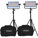 Dracast DR500BCG2KSK-G Dracast LED500 Pro Bicolor 2-Light Kit with Gold-Mount Battery Plates and Stands