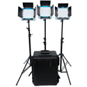 Dracast DRL500SBC3LK S-Series Bicolor LED500 3-Light Kit with Hard Case - V-Mount