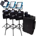 Dracast DRSTUBV LED1000 Pro Bi-Color 3-Light Studio Kit with V-Mount Battery Plates
