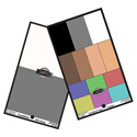 DSC Labs POSP SMPTE Pocket OneShot Plus - 6 Colors / 4 Flesh Tones / White and Gray on Rear - 6.25 x 3.75 Inches