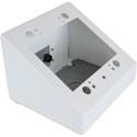 FSR DSKB-2G-WHT 2 Gang Desktop Box with an IPS Grommet Kit - White