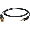 Laird DSLR-CRCA-1 Belden 179DT DSLR 3.5mm Right-Angle TRS Male to RCA Male 75 Ohm Video Interface Cable - 1 Foot