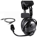 Dalcomm Tech Model J2 Pro Video Carbon Fiber Single Ear Headset w/ FREE SBG-4 3.5mm Adapter Cable/Cord Clip & Carry Bag