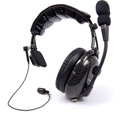 Dalcomm Tech Model J2 Pro Video Carbon Fiber Dual Ear Headset with FREE SBG-4 3.5mm Adapter Cable/Cord Clip & Carry Bag