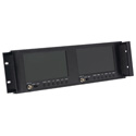 DUAL-7-RM-LCD Dual 7-Inch RackMount Video Monitor with Loop Through - B-Stock Unit - Referbished