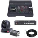 Datavideo EZ Streaming Package B Includes PTC-140TH PTZ Camera/SE-500HD Switcher/NVS-33 Encoder and 100 Foot CAT6 Cable