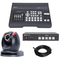 Datavideo EZ Streaming Package B1 - Includes PTC-150 PTZ Camera/SE-650 Switcher/NVS-33 Encoder and 50 Foot SDI Cable