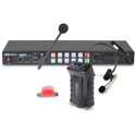 Datavideo ITC-300 Digital Intercom System - 8 Remote Users - Base Station/Headsets/Belt Packs/Tally Lights for 4 Users
