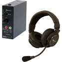 Datavideo ITCSLHP2K Intercom Kit - Includes 65 Foot (20m) Cable/ Headset/ Belt Pack/ Tally Light and HP2A for 1 User