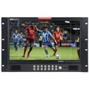 Datavideo TLM-170LR 17.3 Inch LCD Monitor with 3G / HD-SDI and HDMI Inputs - 7 RU Rackmount with Adjustable Vertical Tilt