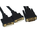Connectronics DVI-D Male to 2 DVI-D Female Adapter Cable 1ft