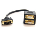 StarTech DVISPL1VV 1 ft DVI-I Analog to 2x VGA Splitter Cable M/F