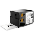 Dymo 1868812 XTL 2-Inch (54 mm) Heat-Shrink Tube - Black on White