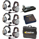 Eartec Comstar XT-6 Complete 6 Person System