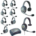 Eartec HUB962MXS UltraLITE & HUB 9 Person Intercom with 6 Single 2 Double 1 Max 4G Single -  Batteries - Charger & Case