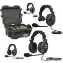 Eartec TCS4000PL 4 Person Wired System with Proline Headsets 2- Single and 2- Double - No Cables