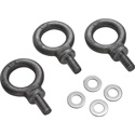 Electro-Voice EBK1-M10-3PACK Forged M10 Short Shank Eyebolt Kit for ELX200 - Set of 3