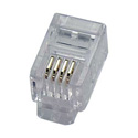 Eclipse Tools 702-001 4P4C RJ-10 Modular Plug for Flat Stranded Wire 50 pack