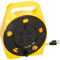 Photo of Retractable 25ft Extension Cord Reel Four Outlet on Side