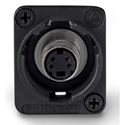 Switchcraft EHSVHS2BX XLR Mounting S-Video Feed-Thru Connector Black Housing