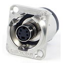 Switchcraft EHSVHS2X XLR Mounting S-Video Feed-Thru Connector Silver Housing