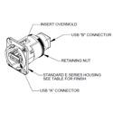 Switchcraft EHUSBABBX USB-A to USB-B Feedthru - Black