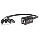 Elite Core Audio CAT-SASS-5PFD Snake System - Ethernet Breakout with 4 XLRF 5-Pin Neutrik Connectors - AES/DMX 110 Ohm