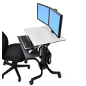 Ergotron 24-214-085 WorkFit-C Dual Sit-Stand Workstation