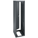 ERK-4425 44RU (77in) 25-Inch Deep Stand Alone Rack with Rear Door- Black