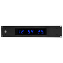 ESE ES-166UE/NTP-C/P/BLUE/POE NTP Time Display with 1 Inch Blue LEDs / 19 Inch Front Panel and PoE