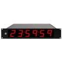 ESE ES 996U NTP-C P 6-Digit Clock with NTP-C with 2.3in High Red LED Display and 19 Inch Rack Mount Option