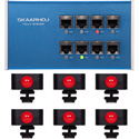 Skaarhoj ETH-TALLY-LINK-V2-X6 Tally Box Bundle with 6 Tally Lights for ATEM Switcher & vMix