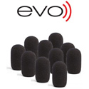 EVO-RWS-10 Waterproof Evo Windscreen - 10 Pack Black