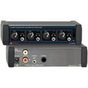 RDL EZ-HDA4A 1x4 Stereo Headphone Distribution Amp Front-Panel Outputs
