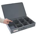 Fehr Brothers TSBOX-F Fehr Brothers Metal Organizer Storage Box with 8 Adjustable Dividers 18x12x3