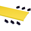 CommScope Technologies FGS-MSSC-B/G FiberGuide Snap-on Raceway Cover Kit for Horizontal Straight Section 6 foot - Yellow