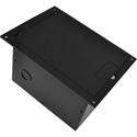 FSR FL-1300-BLK Floor Box with Hinged Door (Black)