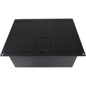FSR FL-1550-BLK 4 Gang Stage Floor Box (NON-UL)