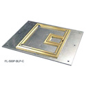Cover with 1/4in Brass Carpet Flange  (Lift off door)