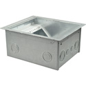 FSR FL-540P-6-B Floor Box for Raised Access Computer and Stage Floors (6in Depth)