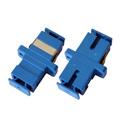 SC to SC Fiber Optic Coupler with Plastic Body & Bronze Alignment Sleeve