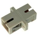 SC to SC Fiber Adapter Simplex Multimode with Bronze Sleeve & Plastic Flange