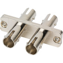 ST to ST Fiber Optic Coupler Singlemode Duplex - Metal with Zirconia Sleeve