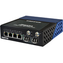 Fiberplex FP1004E/2L5B/EUI Light Industrial 6 Port 10/100/1000 Ethernet Switch - 4 Copper plus 2 SFP Cage
