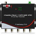 Thor F-SattGalaxy-TX/RX-5 4x Satellite L-Band LNBs/1 CATV QAM/ATSC RF Over 1 Fiber Transmitter MDU Distribution Solution