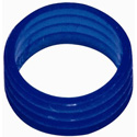 100 Compression Connector Color Rings- Blue